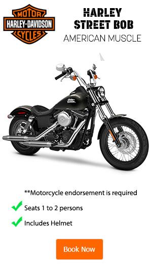 Harley Davidson Street Bob Rentals